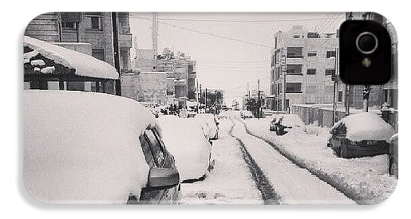 Last Snow In Amman,  Dec. 13 #beamman IPhone 4s Case