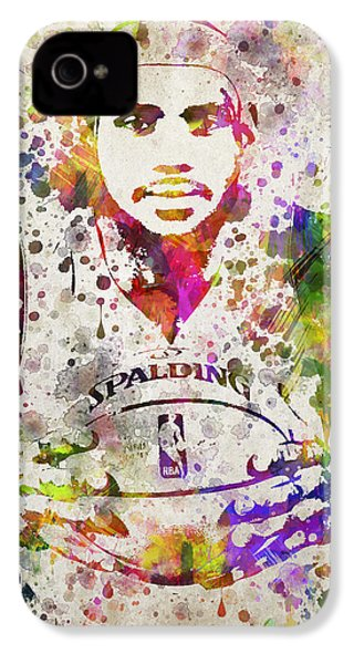 Lebron James In Color IPhone 4s Case by Aged Pixel