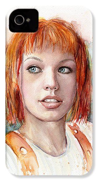 Leeloo Portrait Multipass The Fifth Element IPhone 4s Case