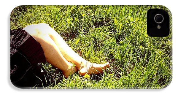 Legs Of A Woman And Green Grass IPhone 4s Case