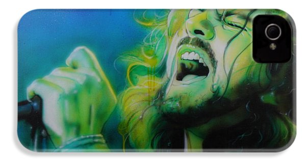 Eddie Vedder - ' Lemon Yellow Sun ' IPhone 4s Case by Christian Chapman Art