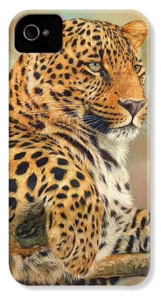 Leopard IPhone 4s Case by David Stribbling