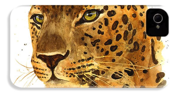 Leopard Gaze IPhone 4s Case by Alison Fennell