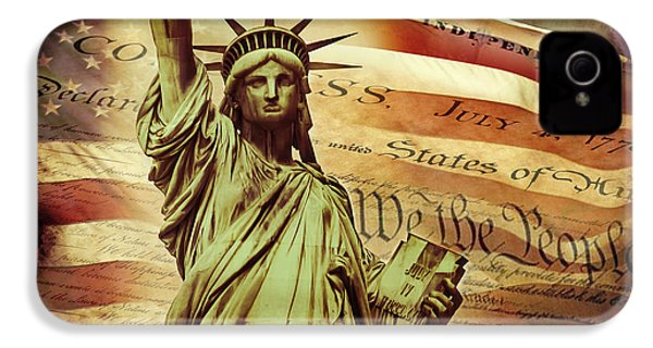 Declaration Of Independence IPhone 4s Case by Az Jackson