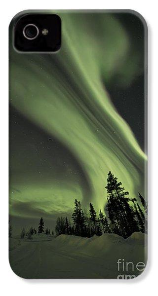 Light Swirls Over The Midnight Dome IPhone 4s Case by Priska Wettstein
