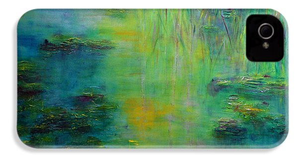 Lily Pond Tribute To Monet IPhone 4s Case by Claire Bull