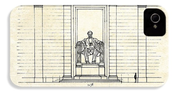 Lincoln Memorial Sketch IPhone 4s Case by Gary Bodnar