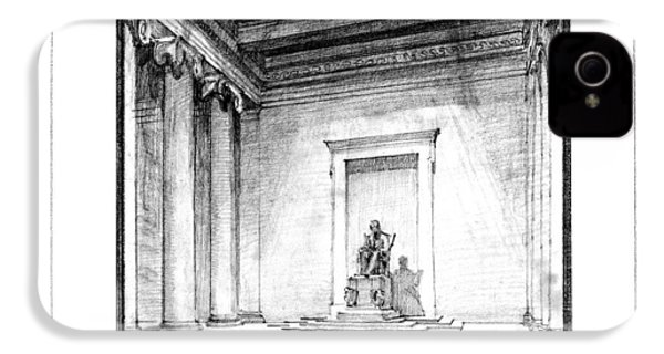 Lincoln Memorial Sketch IIi IPhone 4s Case by Gary Bodnar