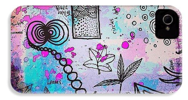 #line #color #shape #design #doodles IPhone 4s Case
