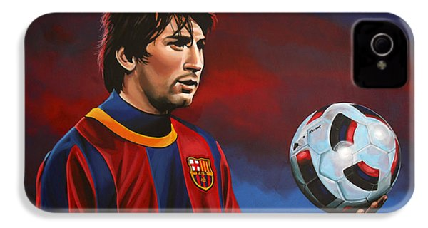 Lionel Messi 2 IPhone 4s Case by Paul Meijering