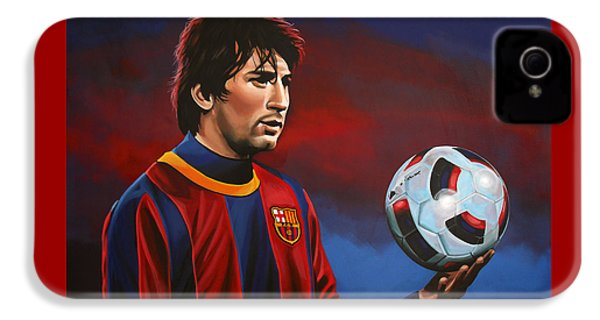 Lionel Messi 2 IPhone 4s Case by Paul Meijering