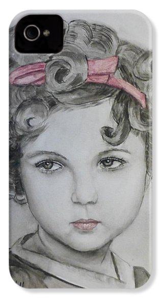 Little Shirley Temple IPhone 4s Case by Kelly Mills