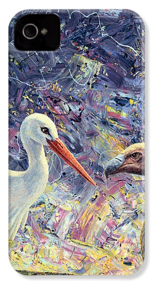 Living Between Beaks IPhone 4s Case by James W Johnson