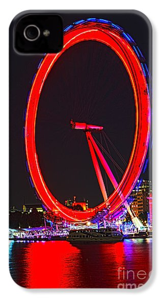 London Eye Red IPhone 4s Case by Jasna Buncic