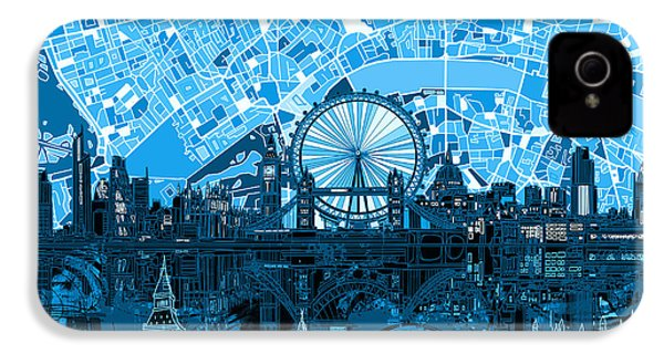 London Skyline Abstract Blue IPhone 4s Case