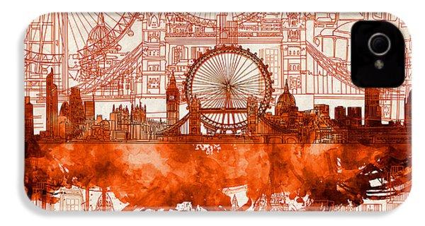 London Skyline Old Vintage 2 IPhone 4s Case
