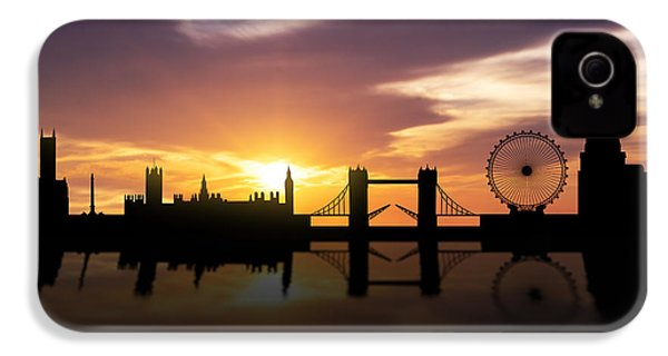 London Sunset Skyline  IPhone 4s Case by Aged Pixel