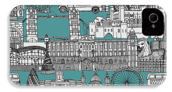 London Toile Blue IPhone 4s Case by Sharon Turner