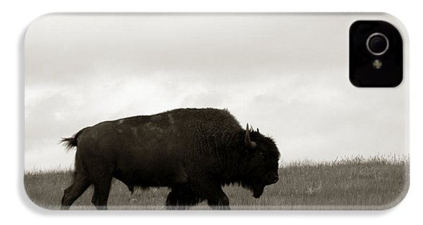 Lone Bison IPhone 4s Case by Olivier Le Queinec