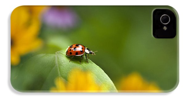 Lonely Ladybug IPhone 4s Case by Christina Rollo