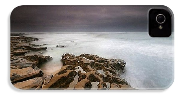 Long Exposure Sunset On A Dark Stormy IPhone 4s Case by Larry Marshall
