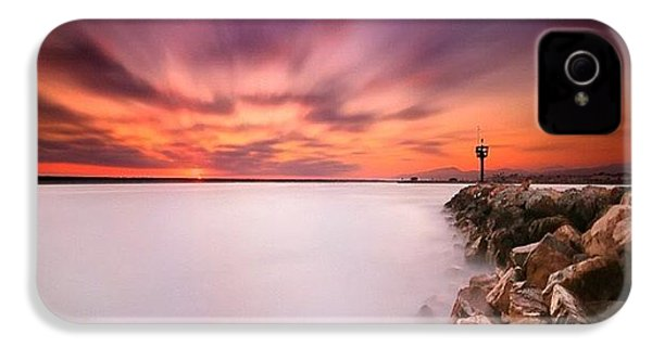 Long Exposure Sunset Shot At A Rock IPhone 4s Case by Larry Marshall