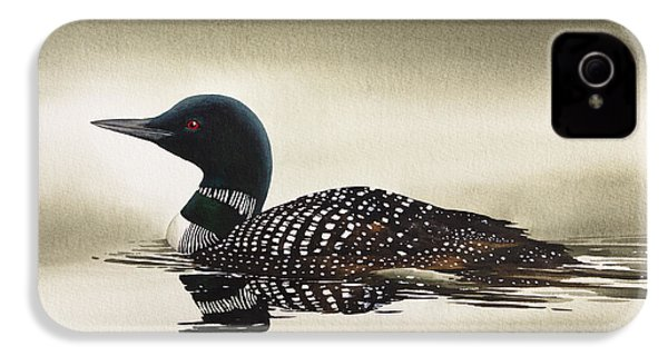 Loon In Still Waters IPhone 4s Case by James Williamson