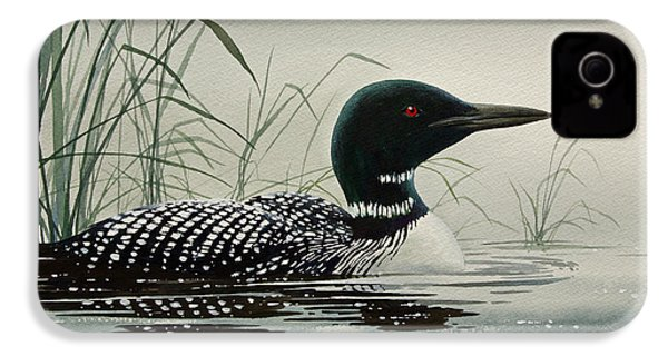 Loon Near The Shore IPhone 4s Case by James Williamson