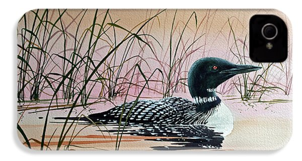 Loon Sunset IPhone 4s Case by James Williamson