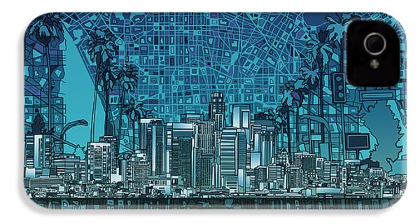 Los Angeles Skyline Abstract 5 IPhone 4s Case
