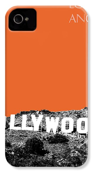 Los Angeles Skyline Hollywood - Coral IPhone 4s Case by DB Artist