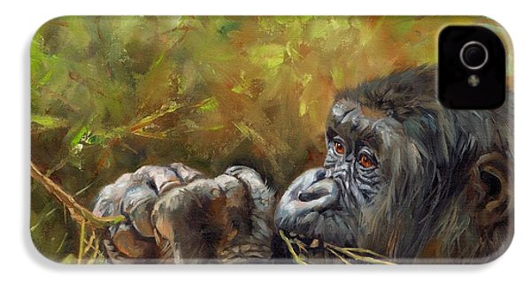 Lowland Gorilla 2 IPhone 4s Case by David Stribbling