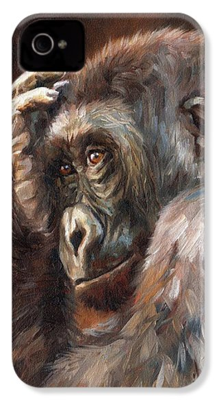 Lowland Gorilla IPhone 4s Case by David Stribbling