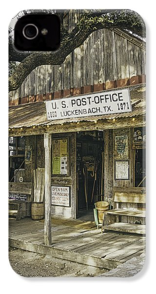 Luckenbach IPhone 4s Case by Scott Norris