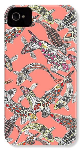 Lucky Koi Coral IPhone 4s Case by Sharon Turner