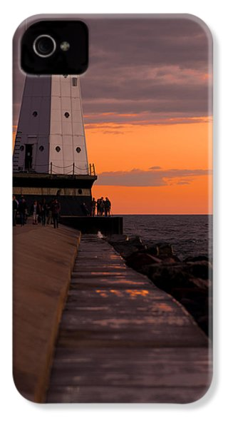 Ludington Pier And Lighthouse IPhone 4s Case by Sebastian Musial