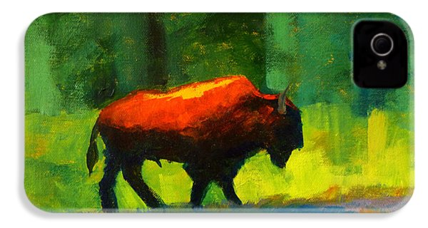 Lumbering IPhone 4s Case by Nancy Merkle