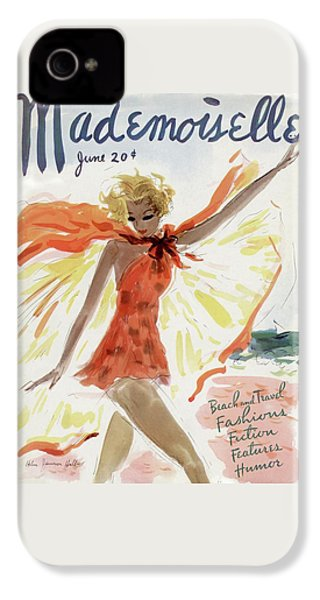 Mademoiselle Cover Featuring A Model At The Beach IPhone 4s Case