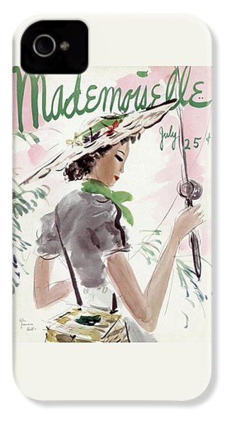 Mademoiselle Cover Featuring A Woman Holding IPhone 4s Case