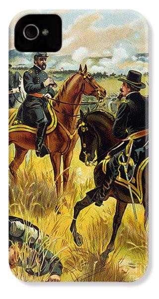 Major General George Meade At The Battle Of Gettysburg IPhone 4s Case by Henry Alexander Ogden