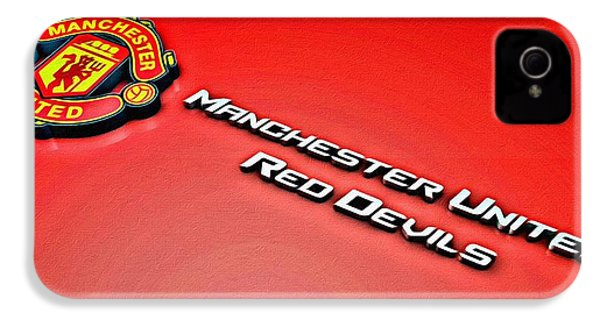 Man United Red Devils Poster IPhone 4s Case