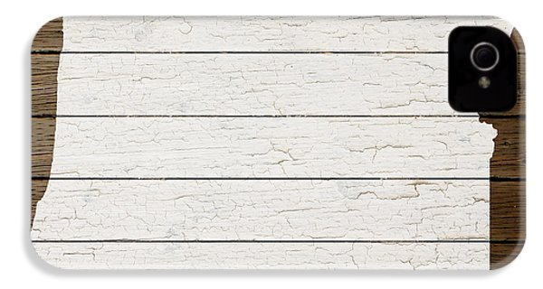 Map Of Oregon State Outline White Distressed Paint On Reclaimed Wood Planks IPhone 4s Case by Design Turnpike