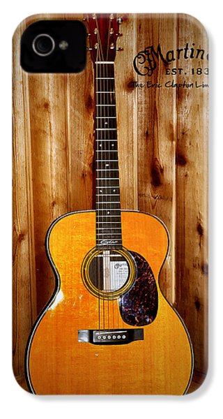 Martin Guitar - The Eric Clapton Limited Edition IPhone 4s Case by Bill Cannon
