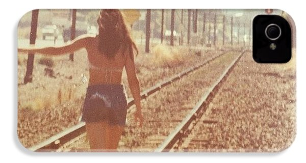 Me Back In The 70s When Livin' Was IPhone 4s Case by Blenda Studio
