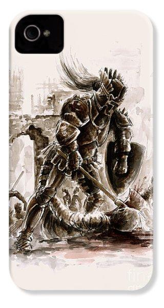 Medieval Knight IPhone 4s Case by Mariusz Szmerdt