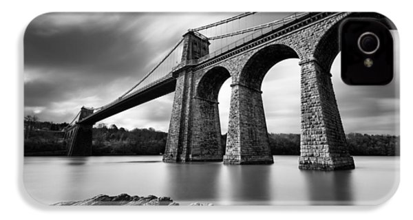 Menai Suspension Bridge IPhone 4s Case by Dave Bowman