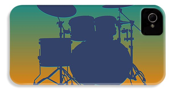Miami Dolphins Drum Set IPhone 4s Case by Joe Hamilton