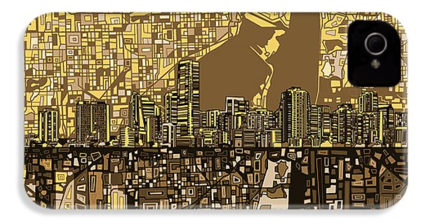 Miami Skyline Abstract 6 IPhone 4s Case