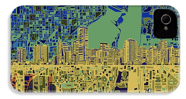 Miami Skyline Abstract 7 IPhone 4s Case