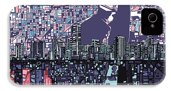 Miami Skyline Abstract IPhone 4s Case